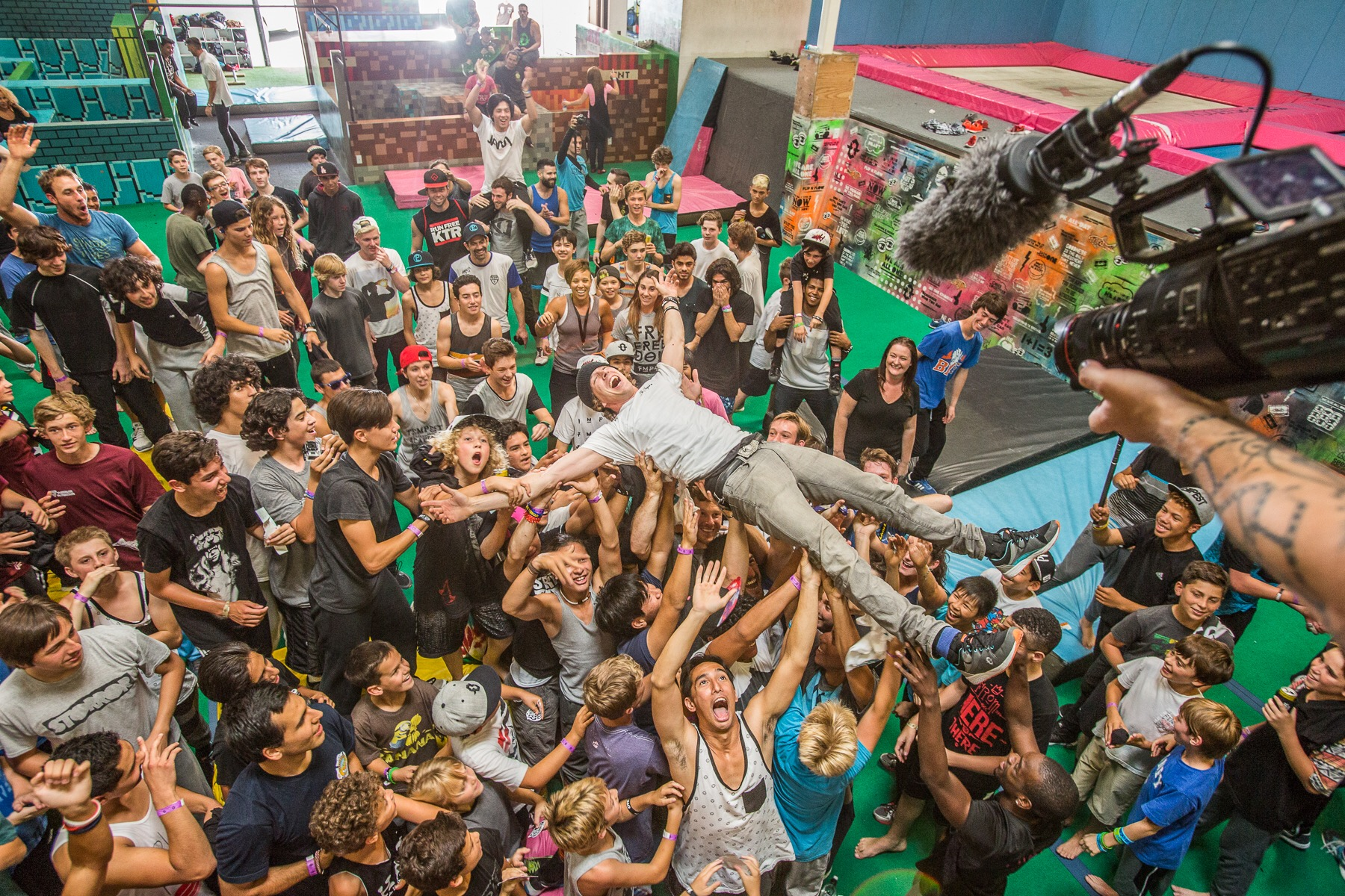 Jesse Crowd Surfing at a OTE Event