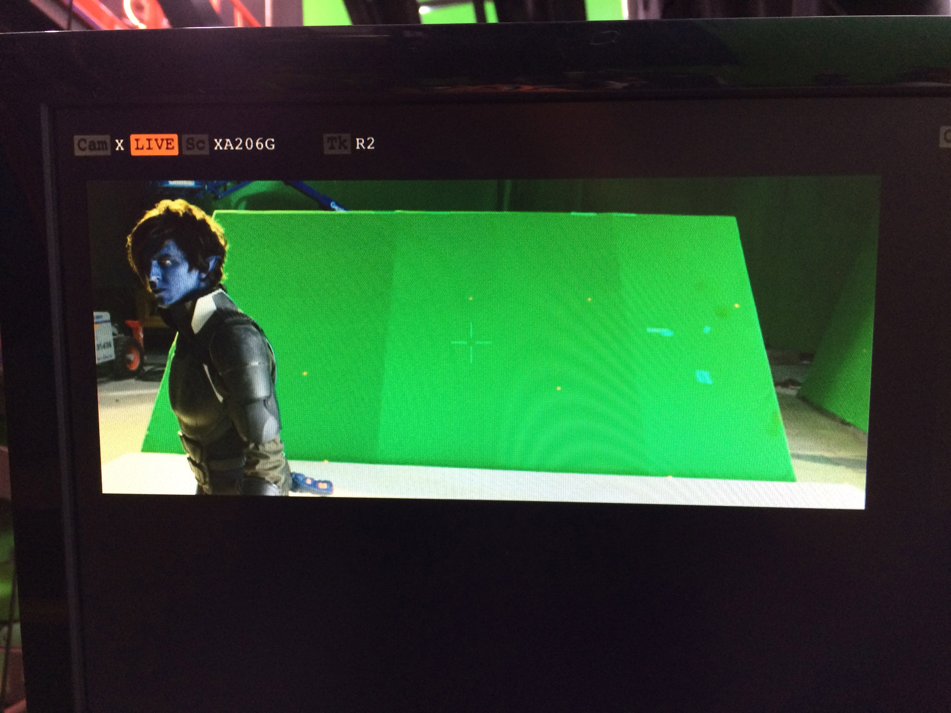Jesse on camera as Nightcrawler