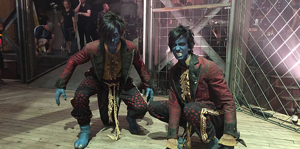Stunt double for nightcrawler in x-men Jesse La Flair and Kodi Smit Mcphee