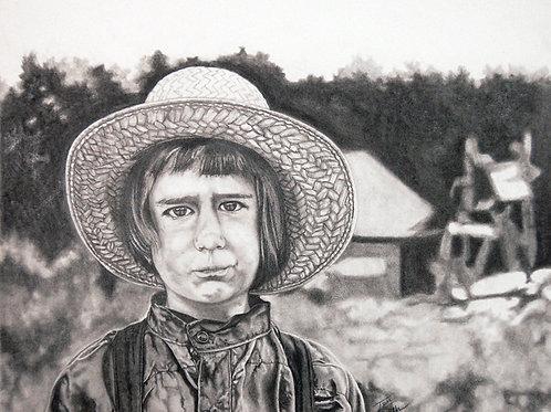Print - Amish Boy