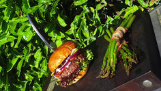 The burger; finest beef burger, completely home made