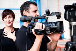 Patrick Straub, der Regiechef an der Kamera