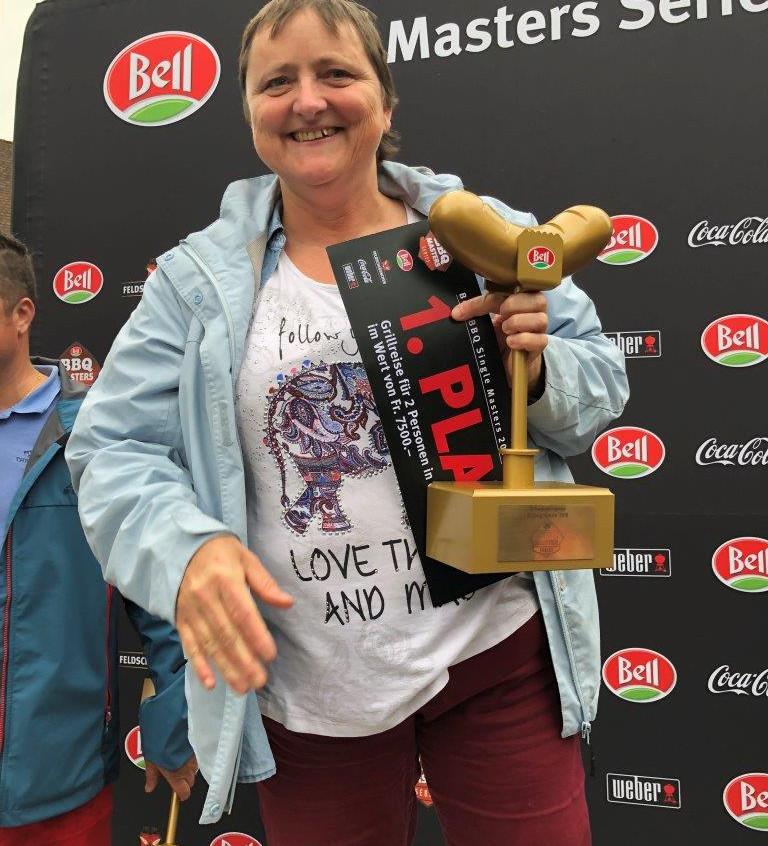 Rita Zingg Schweizer Grillchampion 2018.