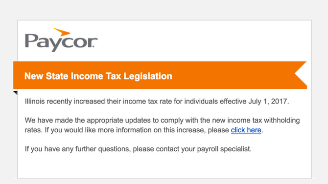 New State Income Tax Legislation