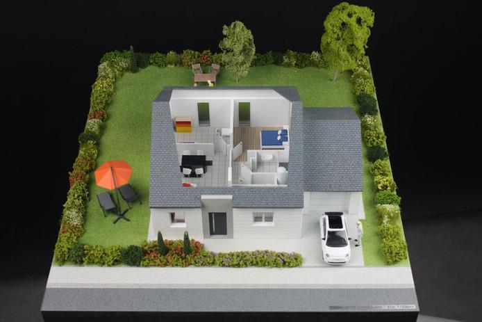 Angers Loire Habitat - Maquette Amenagement d'intérieur - Atelier Pyramid