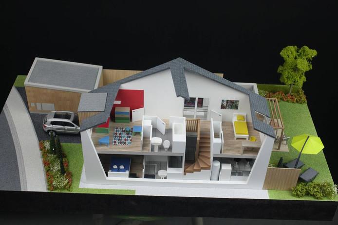 Angers Loire Habitat 3 - Maquette Amenagement d'intérieur - Atelier Pyramid