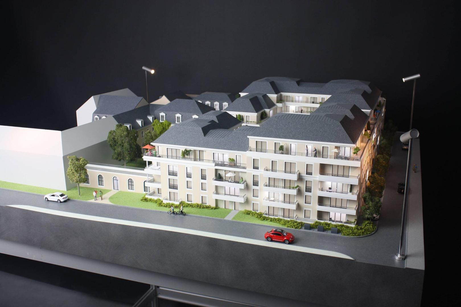 Maquette du site de l'Etoile au Mans - Promotion immobilière - Atelier Pyramid