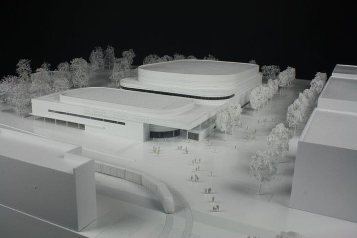 Patinoire Angers - Maquette concours - Atelier Pyramid