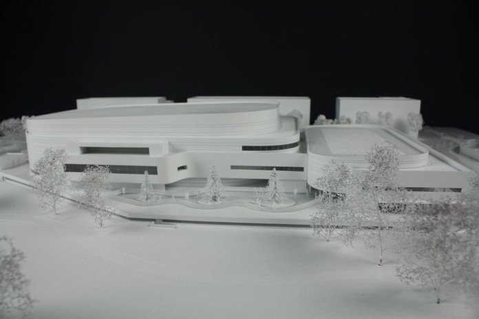 Patinoire Angers 2 - Maquette concours - Atelier Pyramid