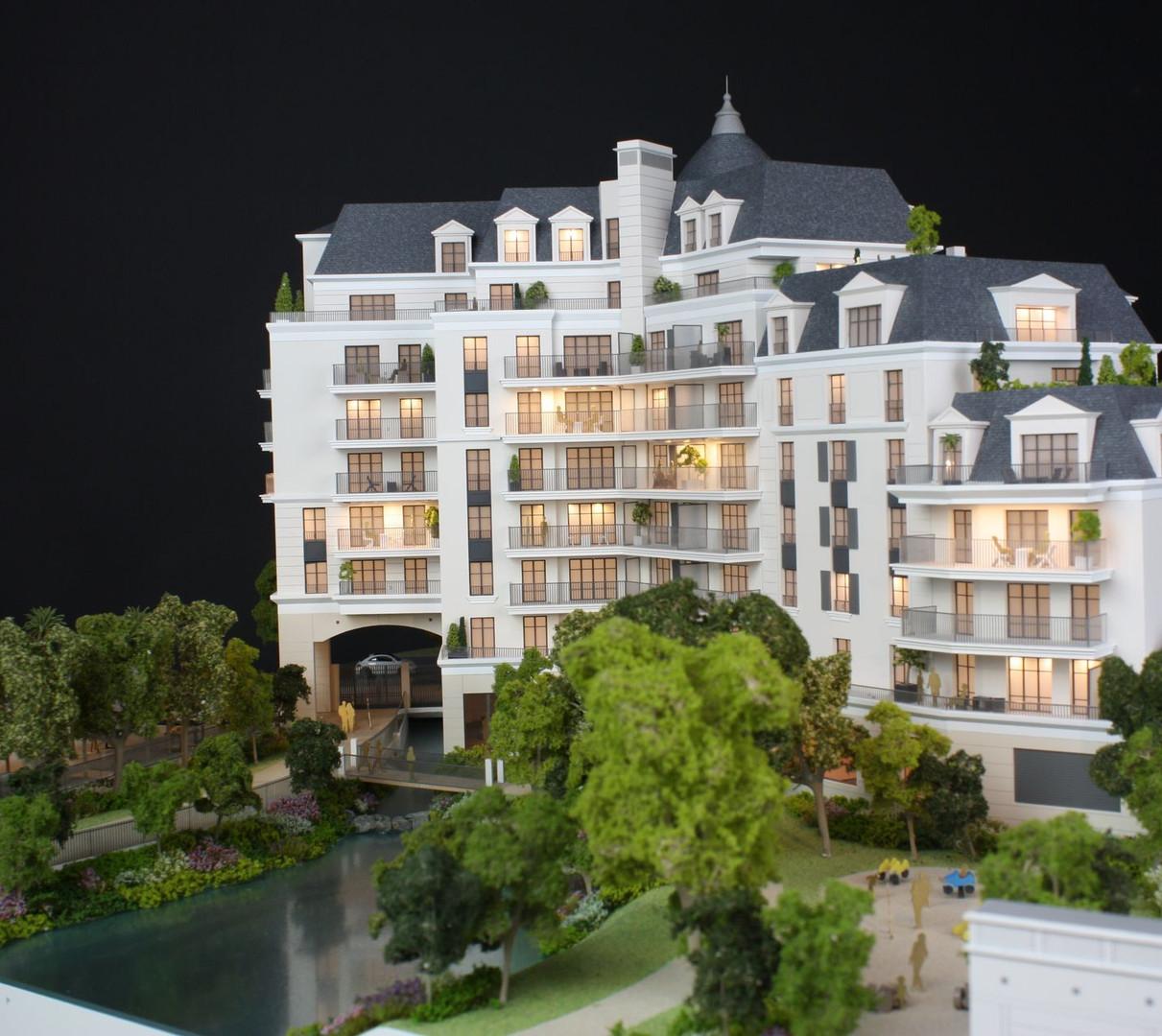 Maquette du projet Puteaux - Promotion immobilière - Atelier Pyramid