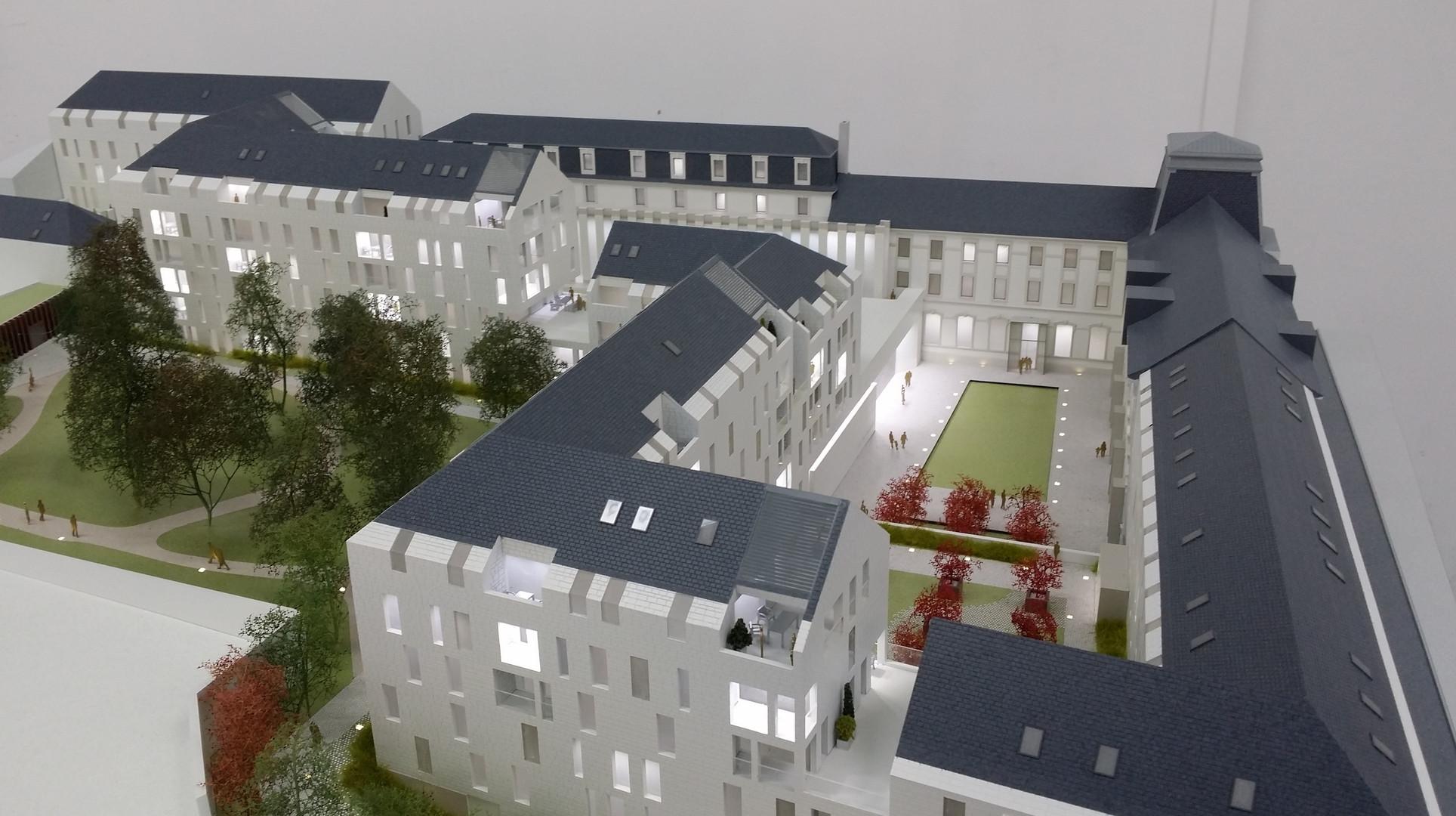 Maquette SAY à Nantes - Promotion immobilière - Atelier Pyramid