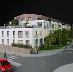 Maquette Carre des Arts à Vertou - Promotion immobilière - Atelier Pyramid