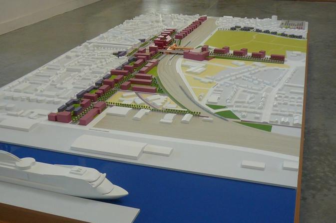 Ville Gare - Maquette Urbanisme - Atelier Pyramid