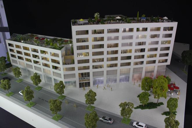 Maquette O-Slow à Nantes - Promotion immobilière - Atelier Pyramid