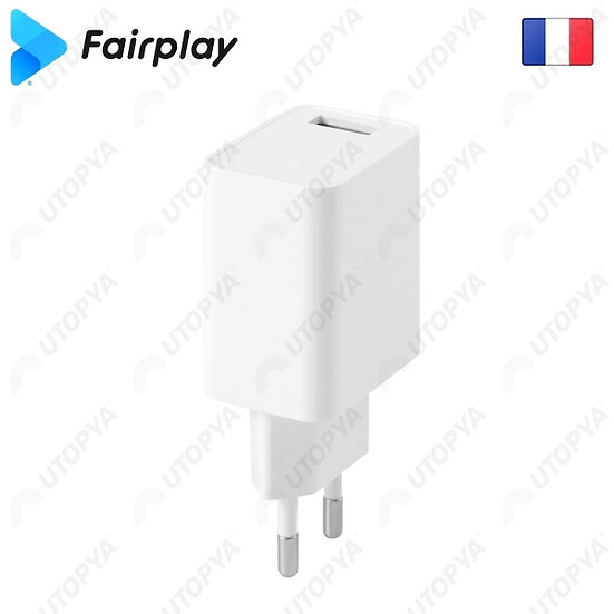 Chargeur 1 sortie USB FAIRPLAY