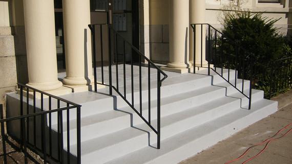 comm ave. front steps finished vulkem 00