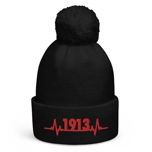 1913 Heartbeat Pom pom beanie
