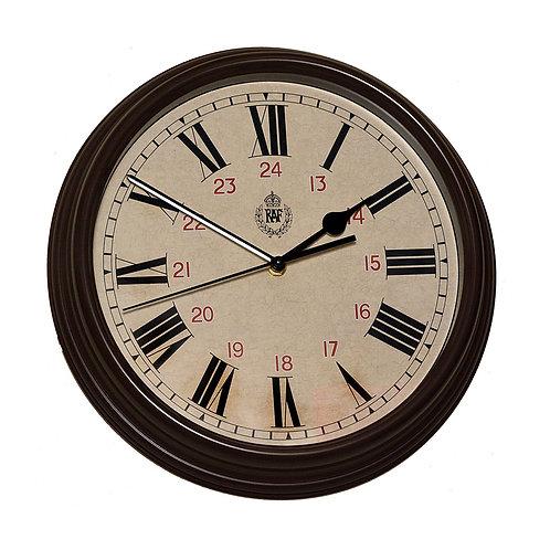 "RAF 1943 Pattern Replica 12/24 Wall Clock 12""/30.5cm (Silent Sweep Movement)"
