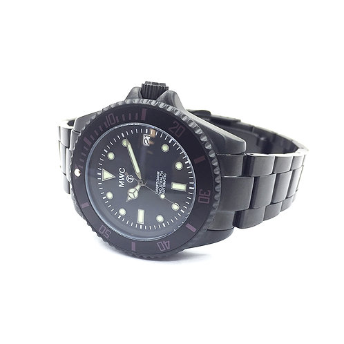 MWC 24 Jewel Automatic Divers Watch on PVD Bracelet