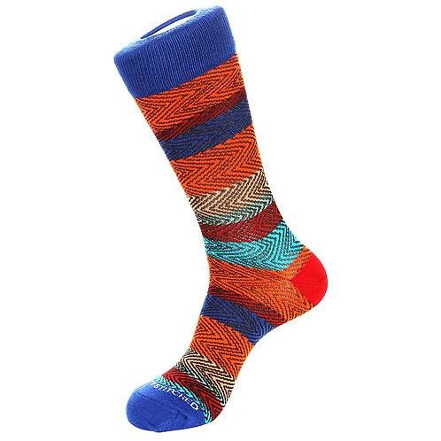 Unsimply Stitched Wave stripe crew socks