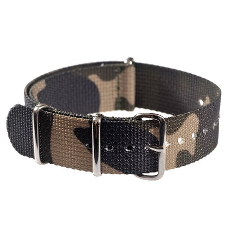 Woodland Camouflage NATO Military Watch Strap