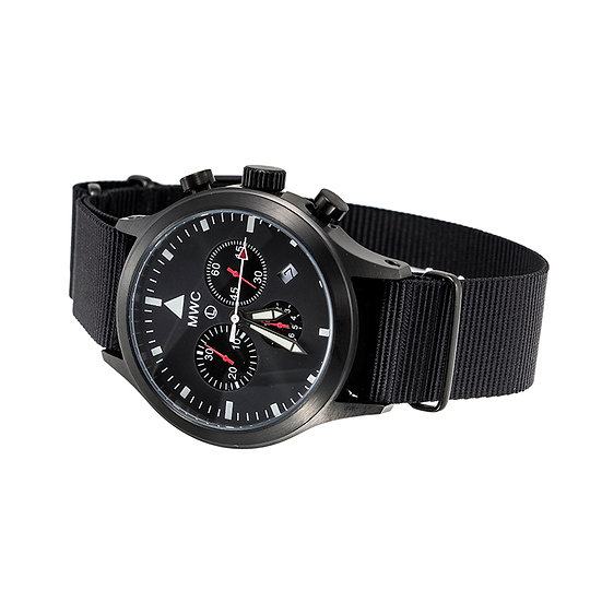 MIL-TEC MKIV PVD Stainless Steel Military Pilots Chronograph