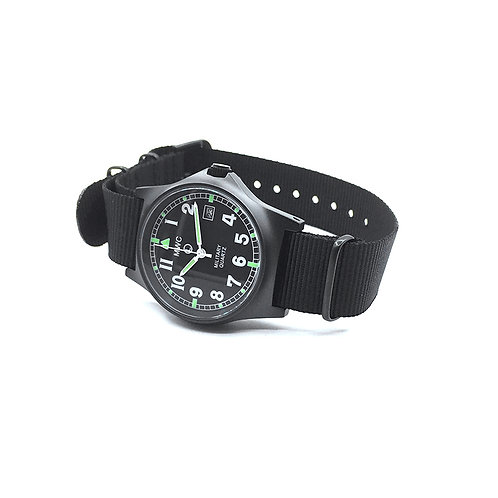 G10LM European Pattern Military Watch in Covert Non Reflective Black PVD