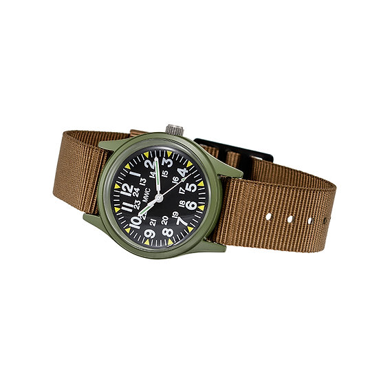 Olive Vietnam Watch on Khaki Strap