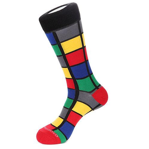 Unsimply Stitched Window pane crew socks