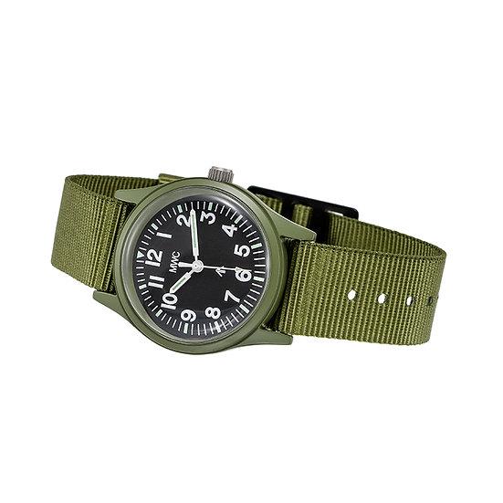 1960s/70s Pattern Olive Drab European Pattern Watch on Matching Strap