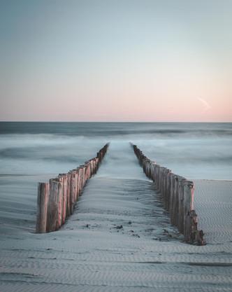 Kalme Zeeuwse zonsondergang