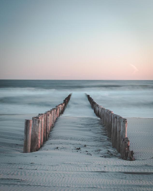 Pier in de zee