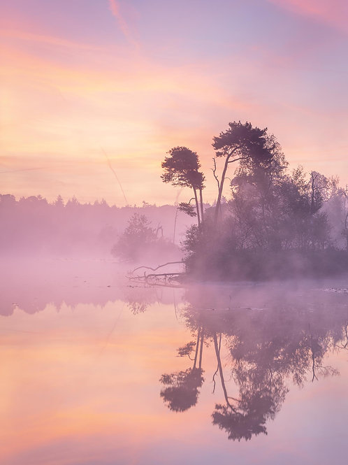 Stille prachtige zonsopkomst