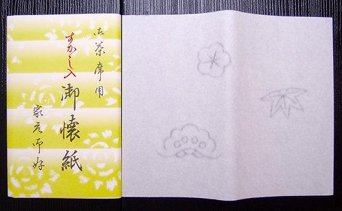 """Water-mark """"Sho-Chiku-Bai"""" pattern, Kaishi paper for women"""