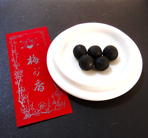 "5 pieces ""Neriko"" kneaded incense ""Umegaka"" made by Shoyeido,"