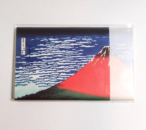 """Printed Sunrise of Mt.Fuji """"Hokusai Katsushika"""" Kaishi paper for women"""
