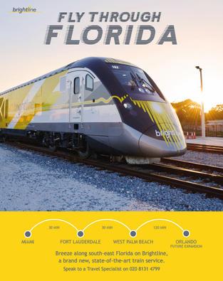 Bright Line trains ad