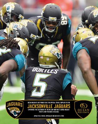 Jacksonville Jaguars x Ocean Holidays ad