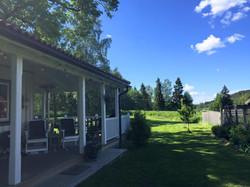 The porch and garden