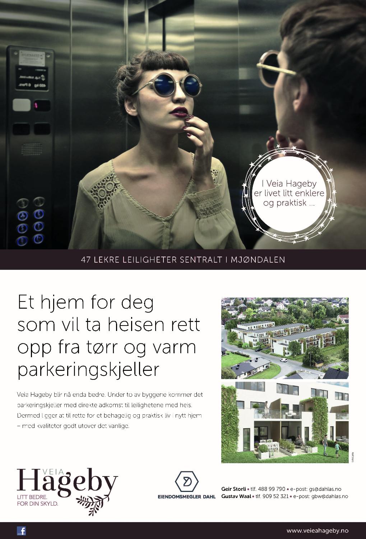Annonse for Veia Hageby