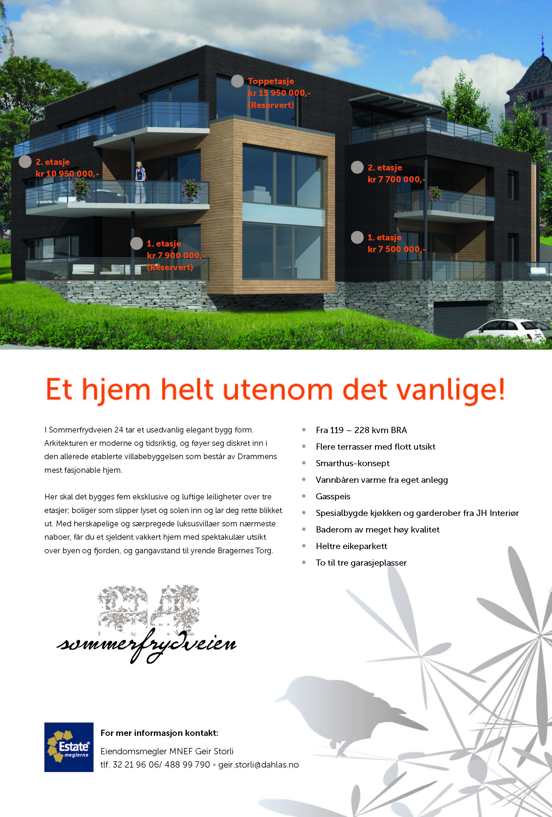Boligprosjekt for Dahl AS Drammen