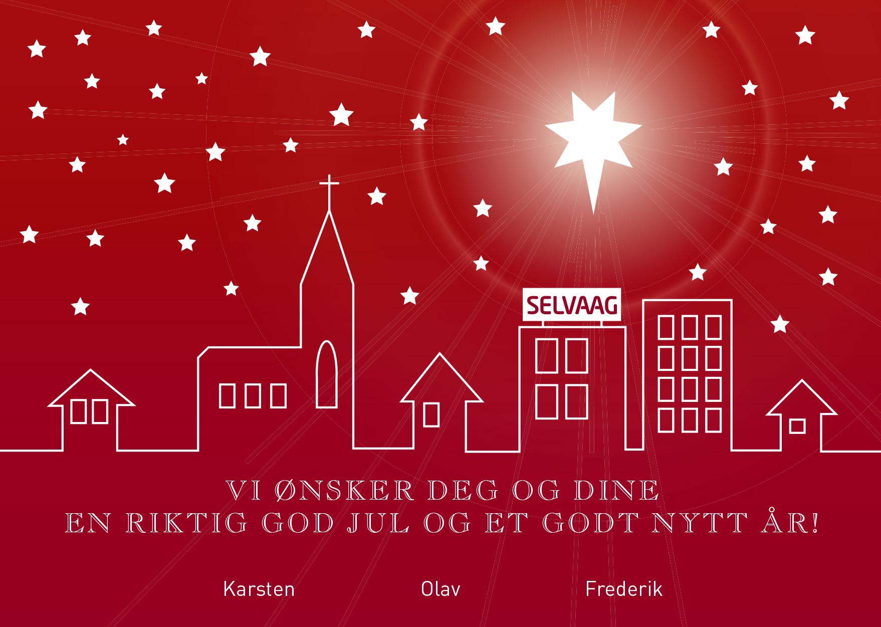 Julekort for Selvaag Bolig