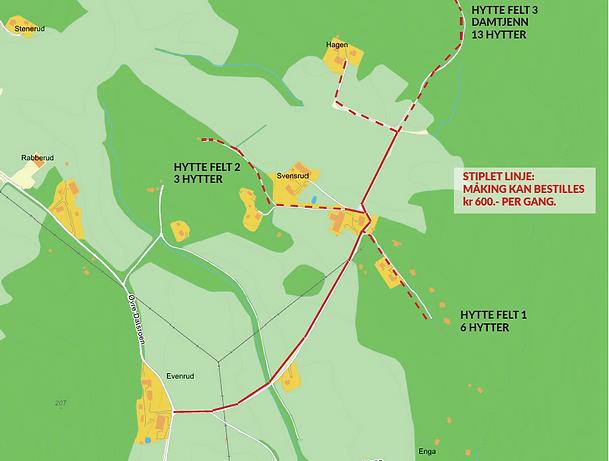 Kart Svensrudveien Veilag