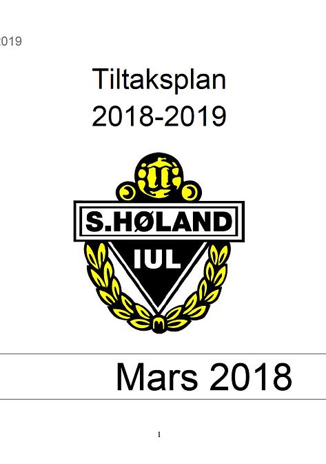 Tiltaksplanen for SHIUL 2018-2019