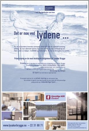 Annonser for Lysaker Brygge