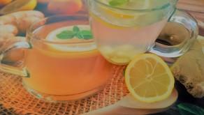 Make your own Fresh Detox Tea with Ginger and Lemon