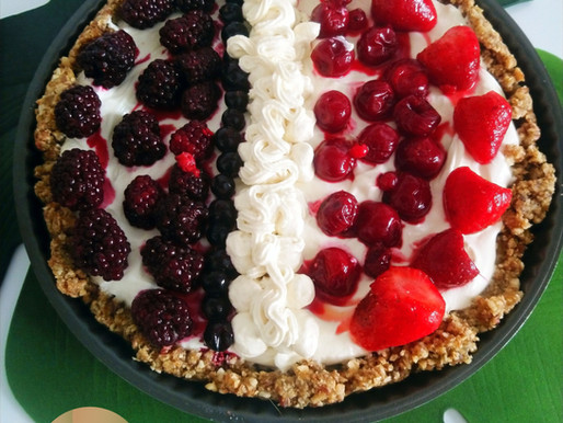 No Bake tricolor cheesecake