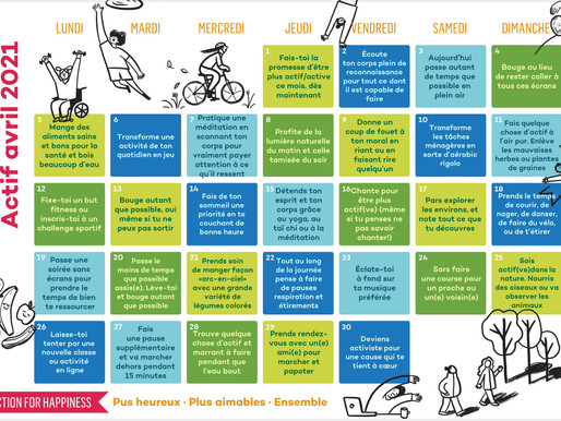 Action for Happiness - Actif Avril 2021