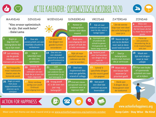 Action for Happiness - Optimistisch Oktober 2020