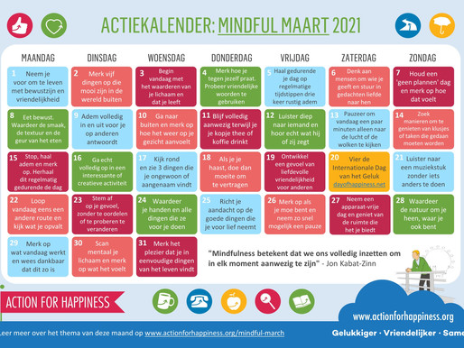 Action for Happiness - Mindful Maart 2021